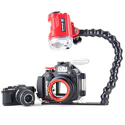 Backscatter Olympus E-PL7 Camera,  PT-EP12 Underwater Housing and Strobe Package