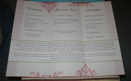 Civil ceremony order of service