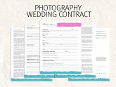 Wedding Contracts for Photographers Templates