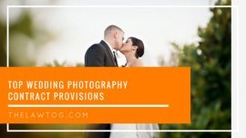 Top marriage photographer Contract Provisions